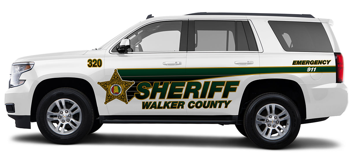Tahoe Lettering Design for Walker County Sheriff.