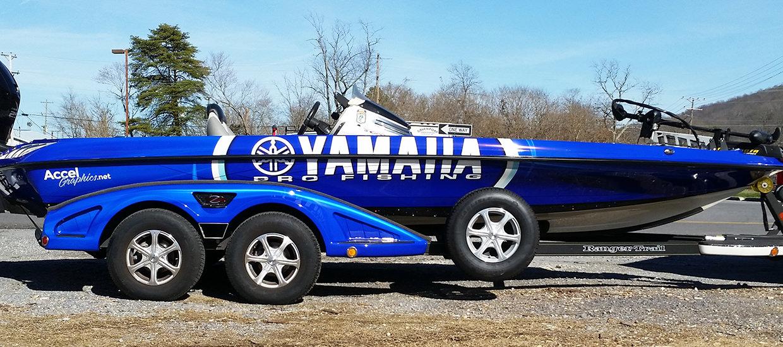 Yamaha pro fishing boat wrap accel graphics for Yamaha fishing boats