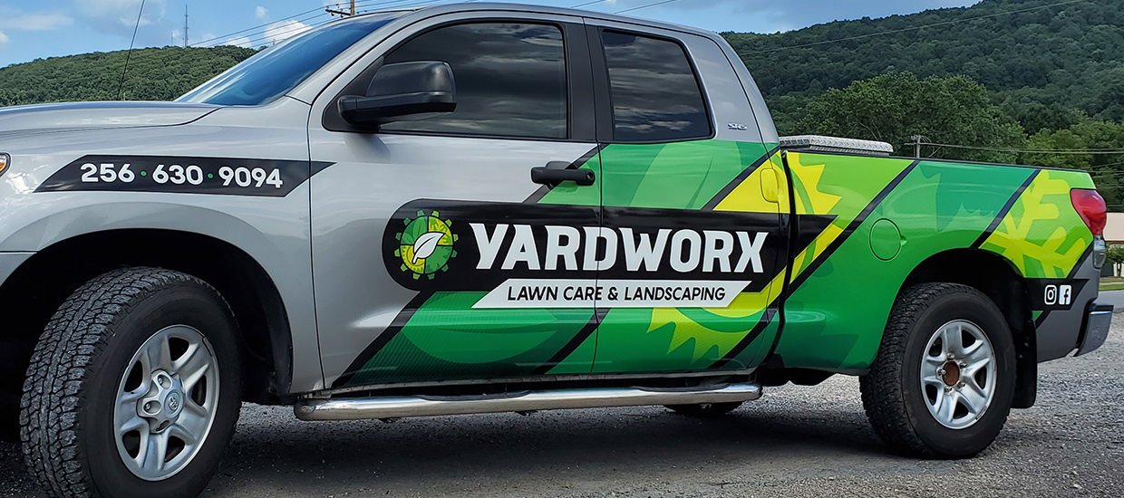 Partial Truck Wrap for Yardworx.