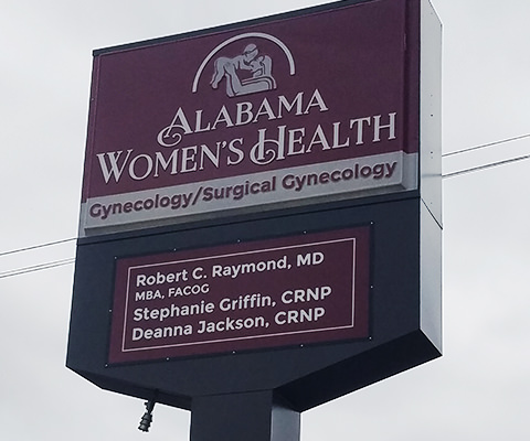 Alabama Women's Health Lighted Sign