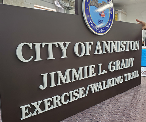 City of Anniston walking trail sign