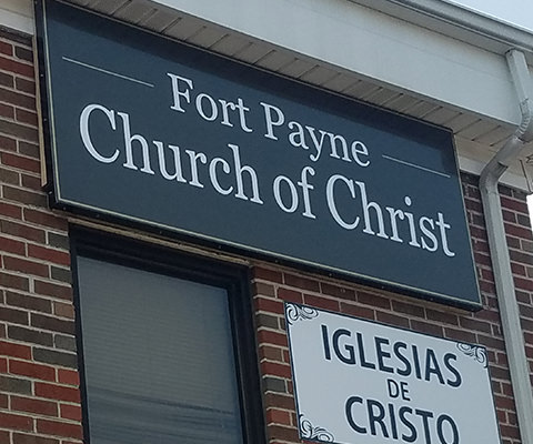 Fort Payne Church of Christ Signage