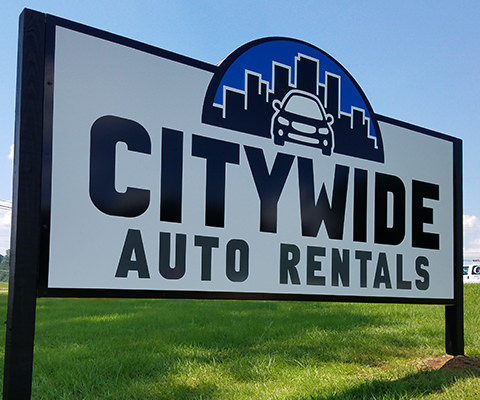 Citywide Auto Rentals Sign