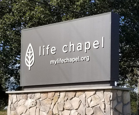 Life Chapel - Dimensional Sign