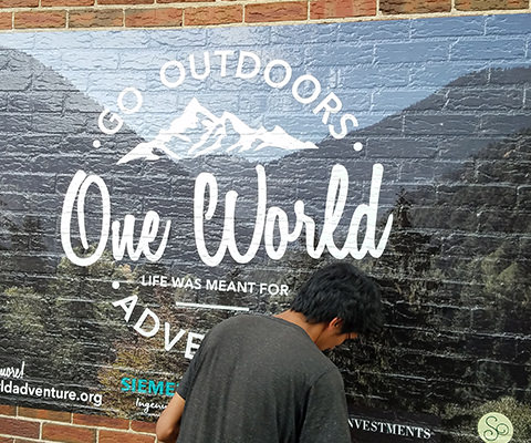 One World - Wall Wrap - Brick Wrap