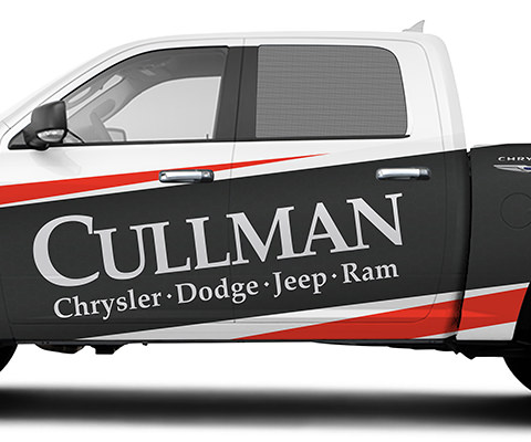 Cullman Chrysler Partial Truck Wrap