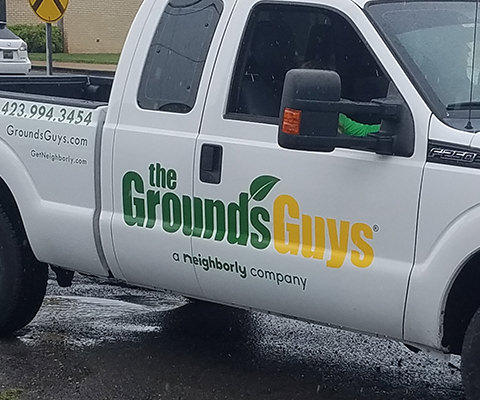 The GroundsGuys - Truck and Trailer Vinyl Install