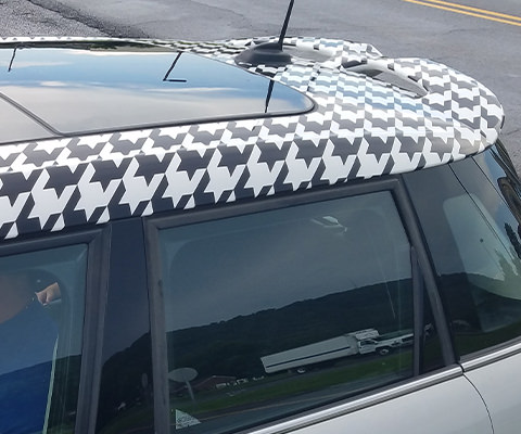 Houndstooth Mini Cooper Roof Wrap