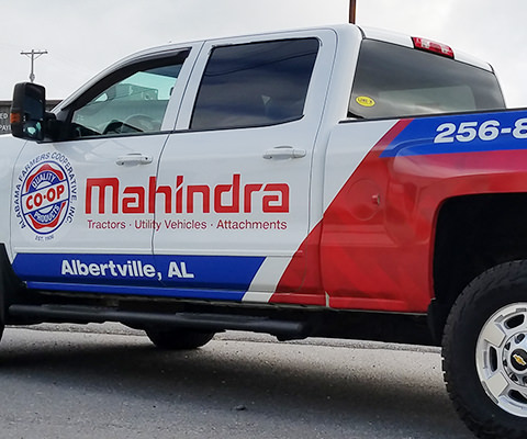 Alabama Farmers Co-Op Partial Truck Wrap