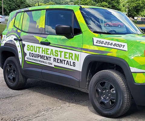 Southeastern Equipment Rentals - Jeep Renegade Wrap