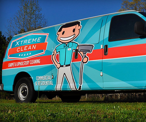 Xtreme Clean - Carpet Cleaning Van Wrap