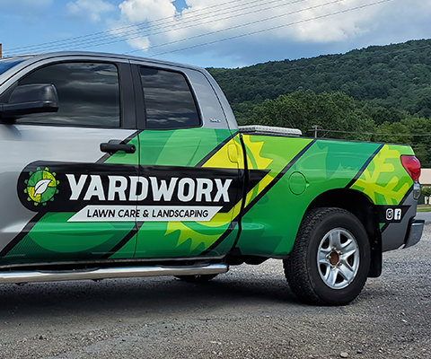 Yardworx - Partial Truck Wrap