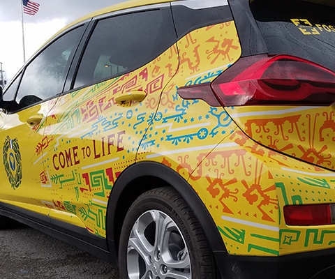 Yerbamate - Car Wrap Installation