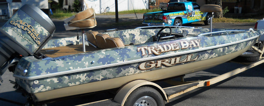 Trade Day Grill Boat Wrap