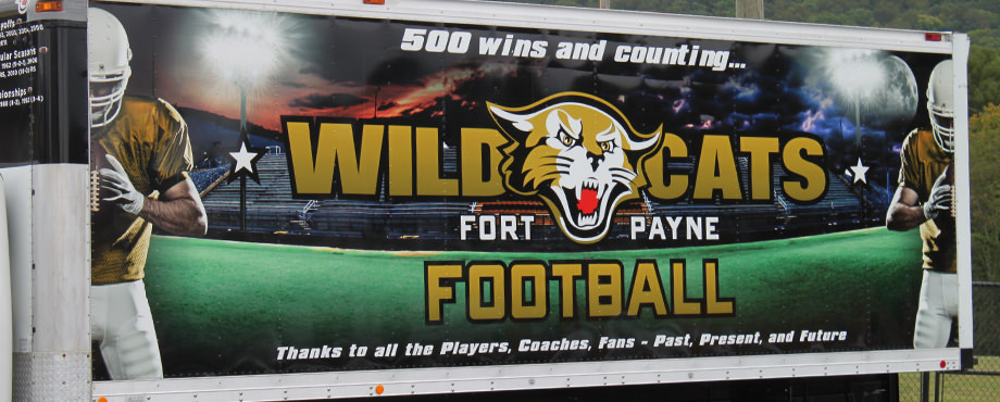 High school football box truck wrap