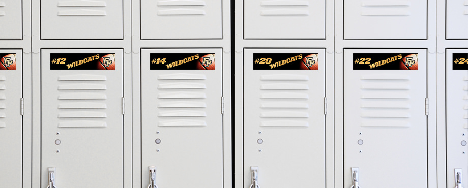 High school basketball team locker tags