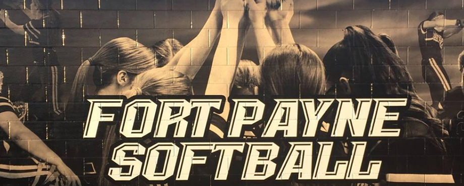 High school softball mural wall wrap