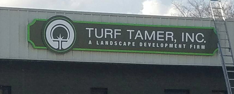Turf Tamer Dimensional Sign