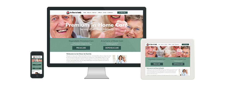 As Close As Family - Web Design