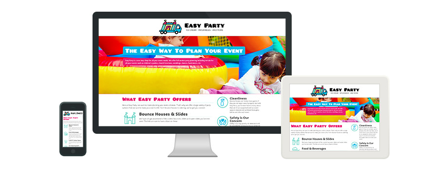 Easy Party - Web Design