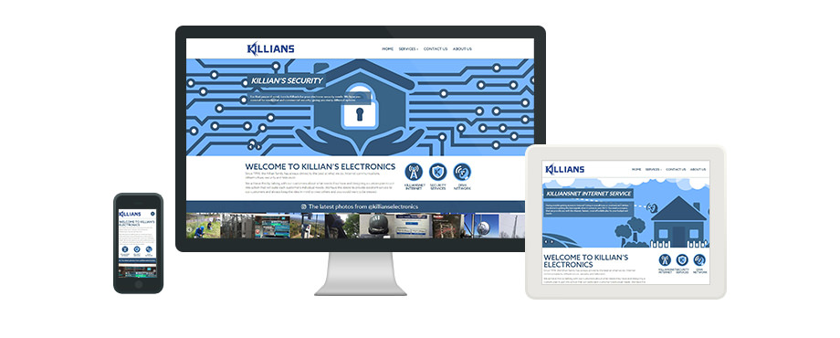 Killian's Electronics - Web Design